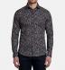 Albini Navy Digital Floral Print Shirt Thumbnail 3