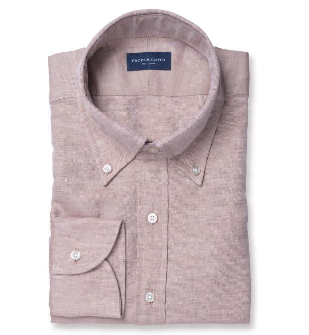 Canclini Faded Copper Cotton Linen Oxford