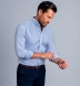 Weston Blue Pinpoint Button Down Shirt Thumbnail 3