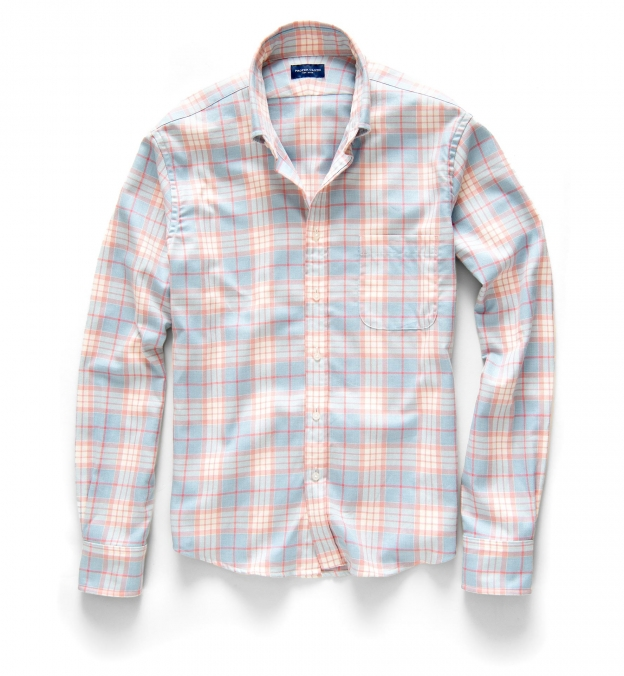 Dusty Blue and Rose California Plaid