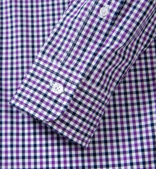 Purple and Navy Gingham Button Down