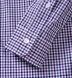 Purple and Navy Gingham Button Down Shirt Thumbnail 4