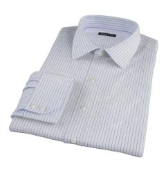 Thomas Mason Blue Grid Men's Dress Shirt