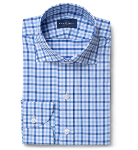 Performance Light Blue Large Multi Gingham