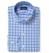 Performance Light Blue Large Multi Gingham Shirt Thumbnail 1
