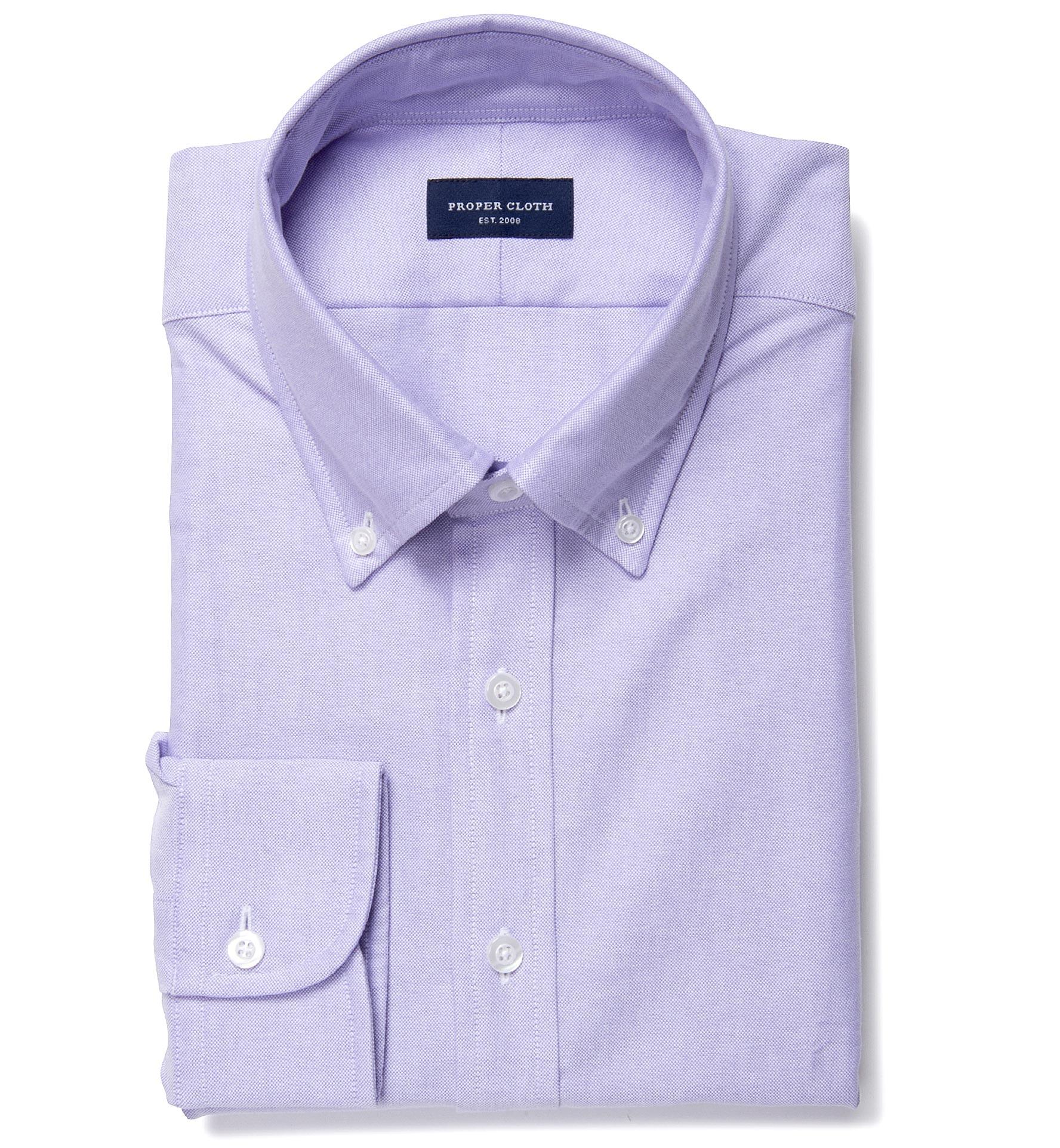 df22d75ce Lilac Heavy Oxford Men s Dress Shirt by Proper Cloth