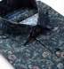 Albini Navy Green and Rose Floral Print Shirt Thumbnail 2