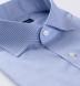 Non-Iron Stretch Royal Blue Fine Stripe Shirt Thumbnail 2