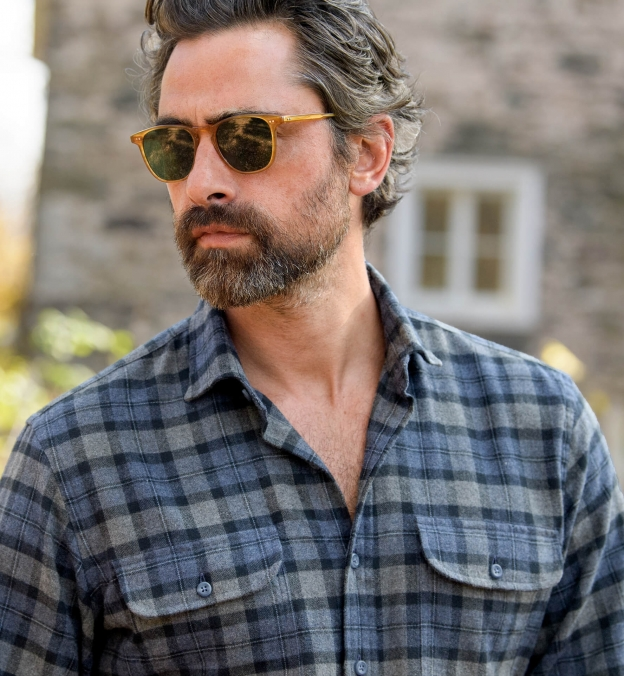 Canclini Slate and Grey Plaid Beacon Flannel