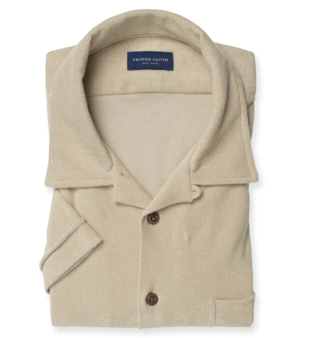 Beige Terry Cloth Knit