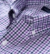 Purple and Navy Gingham Button Down Shirt Thumbnail 3