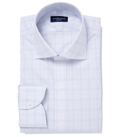 Alden 120s Grey and Blue Prince of Wales Check