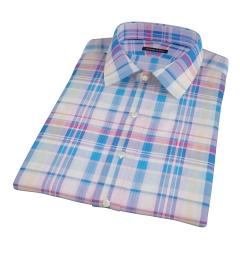 Pink Blue Red Madras Short Sleeve Shirt