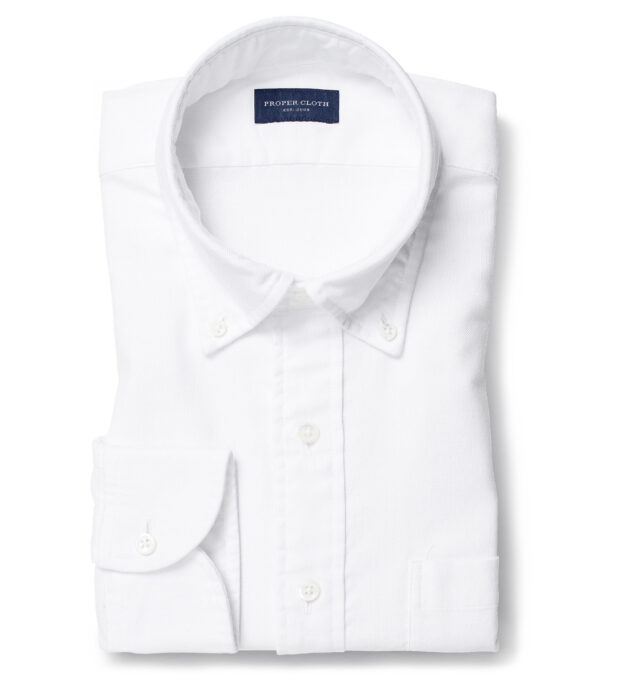 Albiate Washed White Heavy Oxford