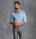Light Blue Indigo Chambray Shirt Thumbnail 4