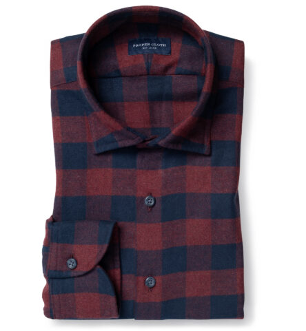 Teton Rust and Navy Gingham Flannel