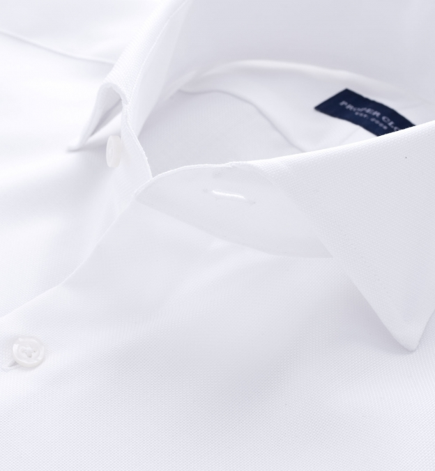 Wrinkle-Resistant Supima White Royal Oxford Roma Cutaway