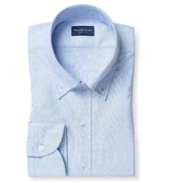 American Pima Light Blue Heavy Oxford Men's Dress Shirt