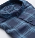 Portuguese Washed Navy and Light Blue Shadow Plaid Linen Shirt Thumbnail 2