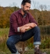 Canclini Burgundy Large Herringbone Beacon Flannel Shirt Thumbnail 3