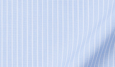 Fabric swatch of Thomas Mason Light Blue Vintage Stripe Fabric