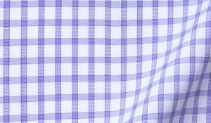 Fabric swatch of Thomas Mason Lavender Grid Fabric