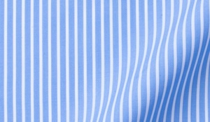 Fabric swatch of Carmine Blue Reverse Bengal Stripe Fabric