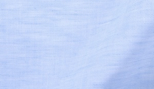 Fabric swatch of Portuguese Light Blue Cotton Linen Oxford Fabric