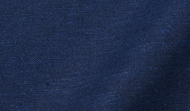 Fabric swatch of Portuguese Navy Cotton Linen Oxford Fabric