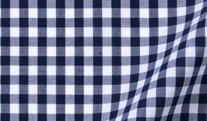 Fabric swatch of Dark Navy Medium Gingham Fabric
