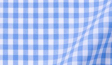 Light Blue Medium Gingham Fabric Sample