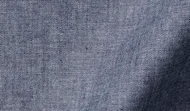 Fabric swatch of Japanese Dark Indigo Chambray Fabric