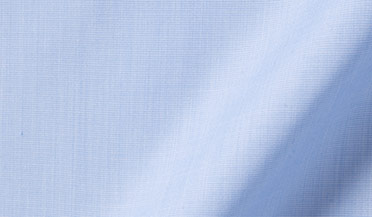 Stanton 120s Sky Blue End-on-End Fabric Sample
