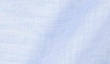 Custom shirt made with Redondo Light Blue Linen Fabric