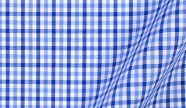 Fabric swatch of Charles Light Blue Multi Gingham Fabric