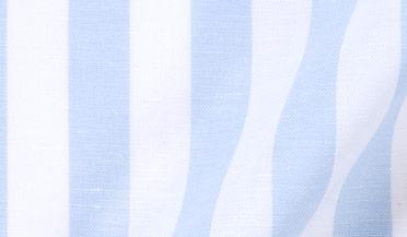Brunswick Light Blue Cotton And Linen Stripe