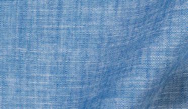 Custom shirt made with Japanese Light Indigo Slub Chambray Fabric