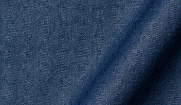 Fabric swatch of Albiate Washed Indigo 80s Denim Fabric