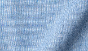 Fabric swatch of Japanese Washed Indigo Chambray Fabric