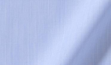 Custom shirt made with DJA Sea Island Light Blue End-on-End Fabric