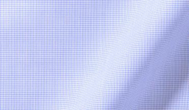 Fabric swatch of Thomas Mason Goldline Blue Micro Check Fabric
