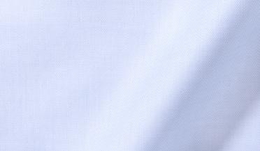 Fabric swatch of Thomas Mason Light Blue Fine Twill Fabric