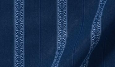 Fabric swatch of Albini Navy Tonal Folk Stripe Fabric