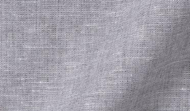 Custom shirt made with Grey Melange Cotton Linen Blend Fabric
