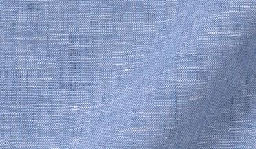 Fabric swatch of Blue Melange Cotton Linen Blend Fabric