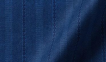 Fabric swatch of Navy Tonal Casual Stripe Herringbone Fabric