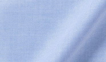 Fabric swatch of Thomas Mason Blue Comfort Oxford Fabric