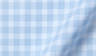 Fabric swatch of Beekman 120s Light Blue Multi Grid Fabric
