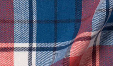 Custom shirt made with Japanese Red and Blue Plaid Fabric