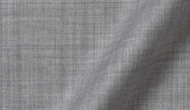 Fabric swatch of Reda Light Grey Melange Merino Wool Fabric